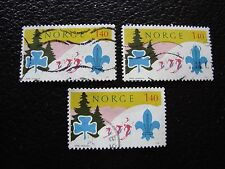 NORVEGE - timbre yvert et tellier n° 662 x3 obl (A30) stamp norway