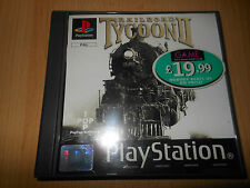 RAILROAD TYCOON 2 II PS1 Playstation 1 PAL COMME NEUF COLLECTORS