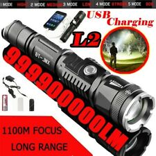 Powerful Flashlight Lampe Torche USB Rechargeable Waterproof LED Lamp Bright