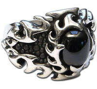 Ring Mens Biker Skull sterling silver Rock n Roll 26 grams handmade jewelry 925
