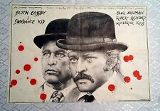 ** BUTCH CASSIDY AND THE SUNDANCE KID ** 1SH /Style B/ Original Polish Poster