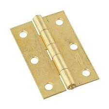 "50-Steel Brass Finish 2 1/6"" Wide X 3"" High Tight-Pin Narrow Hinge 2/Pk N146399"