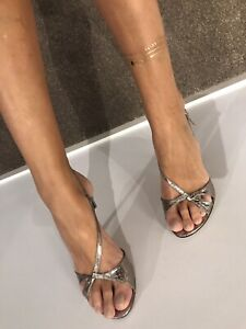 BCBG Strappy Leather Sandals 39