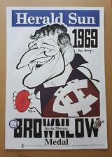 KEVIN MURRAY HAND SIGNED FITZROY ORIGINAL 1969 BROWNLOW MEDALLIST WEG POSTER