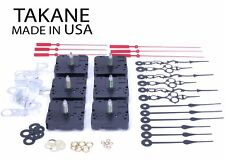 "USA Takane Quartz Clock Movements Kit with Hands, 1"" Shaft Length (Set of 6)"