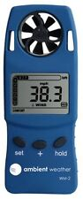 Weather Meter with Windspeed Temperature & Wind Chill Handheld Solar Power Blue