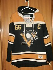 MARIO LEMIEUX PITTSBURGH PENGUINS SWEATER Jersey Hockey Hall Of Fame top shirt