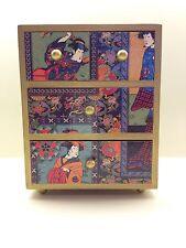 Decoupage Jewelry Wood Box Hand Made in USA