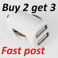 Griff Compact Dual Twin USB Car Charger for Mobile MP3 2 x 1 Amp 12V GC23089