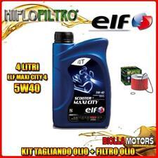 KIT TAGLIANDO 4LT OLIO ELF MAXI CITY 5W40 TRIUMPH 900 Tiger 900CC 1991-2000 + FI