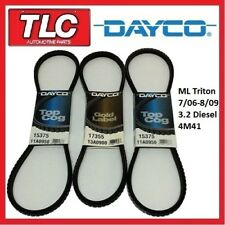 Dayco Fan Belt Kit (3 Belts) ML Triton 3.2L Diesel 4M41 07/06 - 08/09