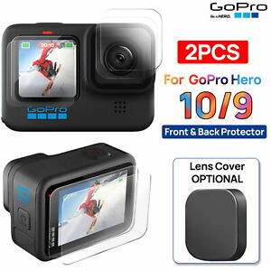 For GoPro Hero 10 9 Black Tempered Glass Camera Lens Screen protector Cover Cap