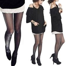 Design Glossy Tights Shimmer Women Shiny Pantyhose Silver Glitter Stockings