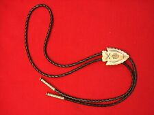 BOLO TIE WITH SOLID COPPER ARROWHEAD & TIPS -THUNDERBIRD/ARROWS - N.O.S.