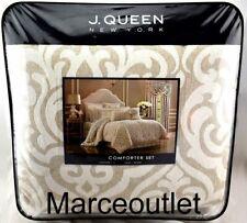 J. Queen New York Milano King Comforter,Shams & Skirt Set Sand