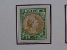 Postzegel Nederlands Indie Dutch East Indies Imperforated  proef test 50c (*)