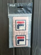 Genuine Fila Pink Woman's Tennis Armband Sweatband (1 pair) New Embroidered