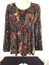 RIPE Women's Top Blouse Size S Soft Stretchy Polyester Multi Color Australia