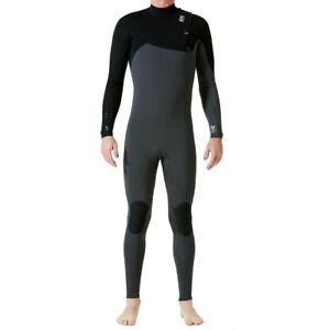 C-Skins Mens Rewired Zipperless 3/2 Wetsuit GREY BLACK - SMALL
