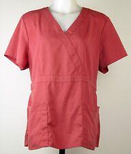 Grey's Anatomy Signature Barco Women's 2153 Heather Red Mock Wrap Scrub Top XL