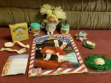 Vintage Cabbage Patch Doll, Accessories & Magazine