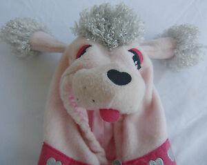 Old Navy Pink Poddle Dog Halloween Fleece Jacket Hood Costume Girls 6-12 Mo.