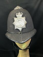 Vintage British Police Force Cheshire Constabulary Helmet Bobby Pith Hat Badge