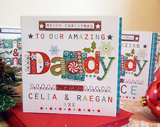 Daddy Christmas card. Personalised Christmas card Daddy or Dad Special Christmas