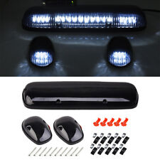 3Pcs Smoke Cab Roof Running White LED Light for 02-07 Chevy Silverado/GMC Sierra