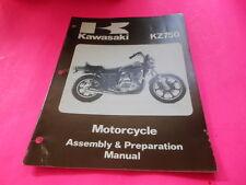 OEM FACTORY KAWASAKI ASSEMBLY & PREPARATION MANUAL 1980 KZ750 LTD-2 G1 24PAGES