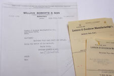 1927 Lamson Goodnow William Roberts Son Winnipeg Canada Signed Ephemera L335F