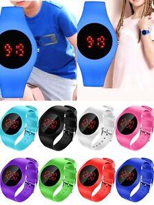 Digital Wrist Watch Sports LED Watch Kids Boy's Girls Children Gifts Present