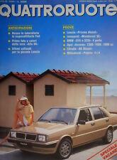 Quattroruote 345 1984 Lancia Prisma Diesel. Mitsubishi Pajero 4x4  [Q.31]