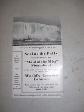 Vintage Maid of the Mist Steamboat Advertisement Brochure