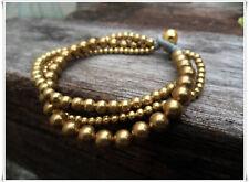 2 Style Brass Bead Chain Bracelet