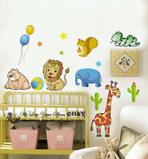 Jungle Safari Forest Animal Removable Wall Stickers Nursery Decal Kid Baby Decor