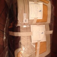2pc Pottery Barn Kids Vehicle Car Service Quilt Standard Sham TWIN brown/yellow