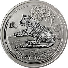 5 OZ ARGENTO-Australia 8 dollari 2010 Lunar II serie: anno del Tigre
