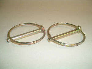 9.5mm Linch/Lynch Pin x2, Excavator, Tractor 70mm Ring.