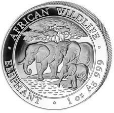 2013 Somalia Elephant 100 Shillings Solid Fine .999 Silver 1oz Coin