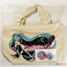 Tote Bag Button Badge Hatsune Miku 2013 Summer Ver. Lottery Prize G Type-D NEW