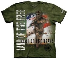 The Mountain Unisex Home of the Brave Military T Shirt