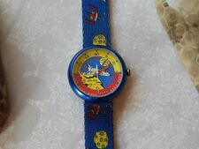 Vintage Flik Flak Astronaut Kids Watch Rare Original-swiss made180 Free Shipping