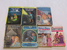 Old NANCY DREW Mystery Stories Books Vintage Lot of 7 HARDBACK & Paperback Books