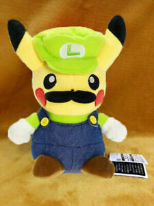 "ALL NEW Super Mario Pokemon Pikachu Luigi 8"" / 20cm Plush Soft Toy Teddy UK"