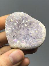Angel Aura Quartz Heart Cluster 1.8oz Beautiful Platinum,Silver+Minerals N19
