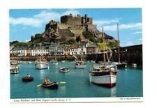 Channel Islands - Jersey, Gorey Harbour and Mont Orgueil Castle - Postcard