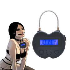 Timer Bondage Lock Handcuffs Mouth Gag Cage Electronic Time Lock Restraints BDSM