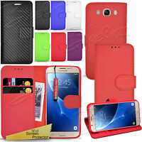 For SAMSUNG GALAXY J7 2016 - Wallet Leather Case Flip Cover + Touch Stylus