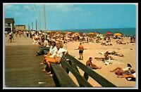 REHOBOTH BEACH DELAWARE BOARDWALK SCENE POSTCARD